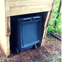 Compost Toilet back