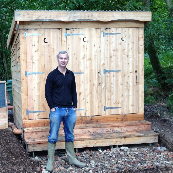 Triple compost toilet