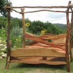 driftwood rustic bed