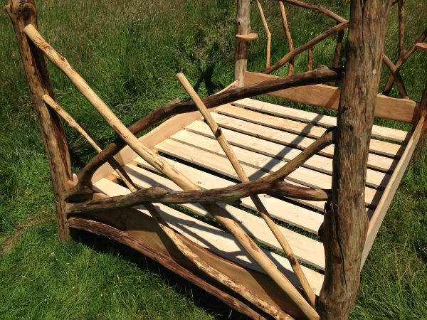 Driftwood four poster bed